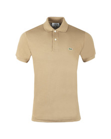 Lacoste Mens Beige L1212 Plain Polo Shirt