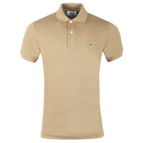 Lacoste Mens Beige L1212 Plain Polo Shirt main image