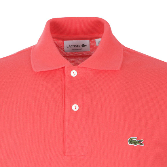 Lacoste Mens Pink L1212 Plain Polo Shirt main image
