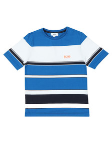 BOSS Boys Blue J25D83 Stripe T Shirt
