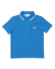BOSS Boys Blue Tipped Polo Shirt