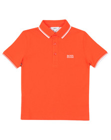 BOSS Boys Orange Tipped Polo Shirt