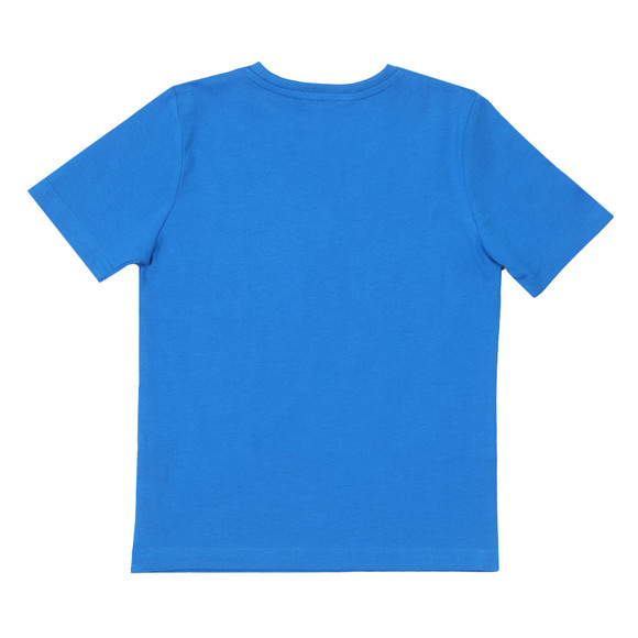 BOSS Boys Blue Small Embroidered Logo T Shirt main image