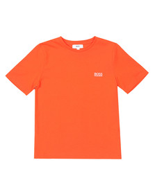 BOSS Boys Orange Small Embroidered Logo T Shirt