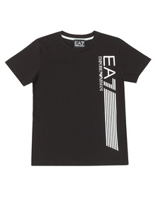 EA7 Emporio Armani Boys Black Side Logo T Shirt