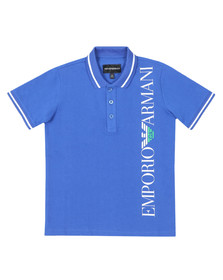 Emporio Armani Boys Blue Side Logo Polo Shirt
