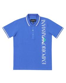 Emporio Armani Boys Blue Side Logo Polo Shirt