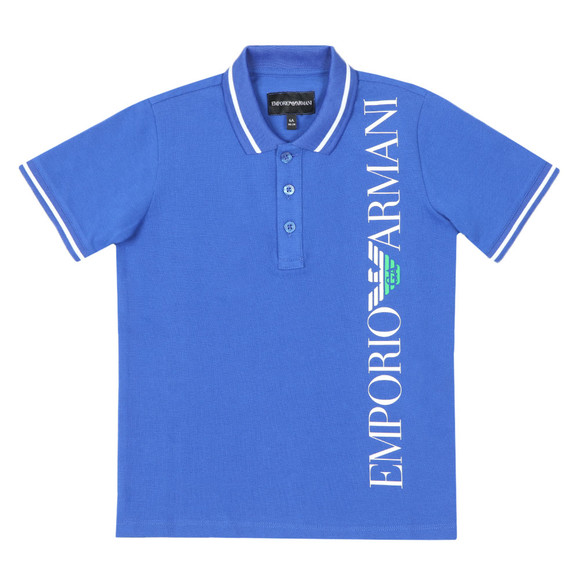Emporio Armani Boys Blue Side Logo Polo Shirt main image