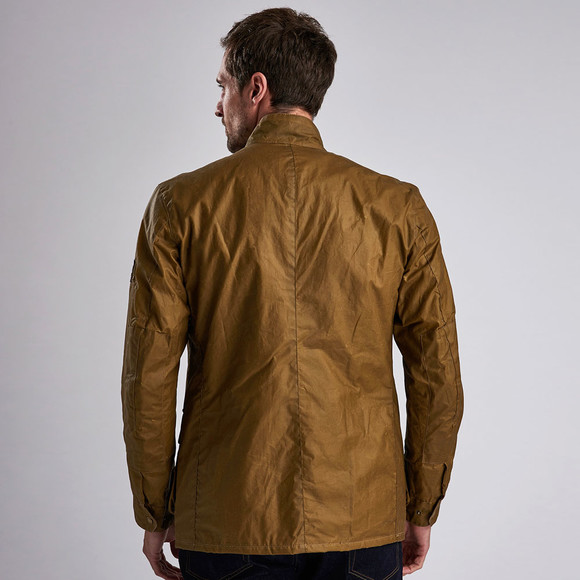 Barbour International Mens Beige Lightweight Duke Wax Jacket main image