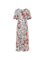 Cadencia Crepe V Neck Maxi Dress