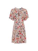 Cadencia Crepe Short V Neck Dress