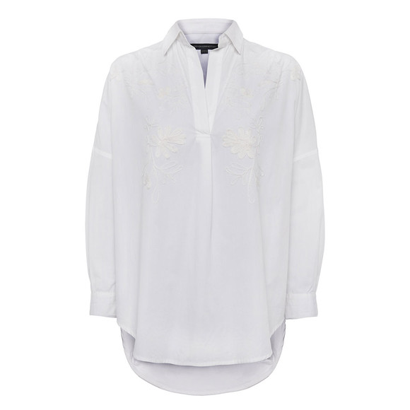 French Connection Womens White PF Rhodes Poplin Shirt main image