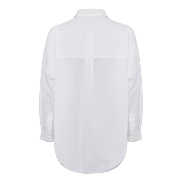 French Connection Womens White PF Rhodes Poplin Shirt