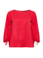 Crepe Light Solid Puff Sleeve Top