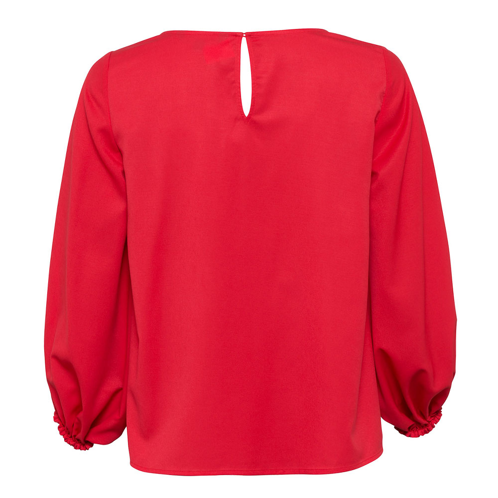 Crepe Light Solid Puff Sleeve Top main image