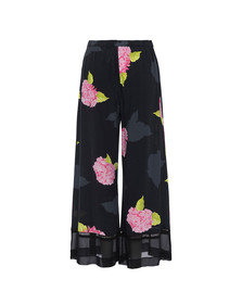 French Connection Womens Black Eleonore Drape Culottes