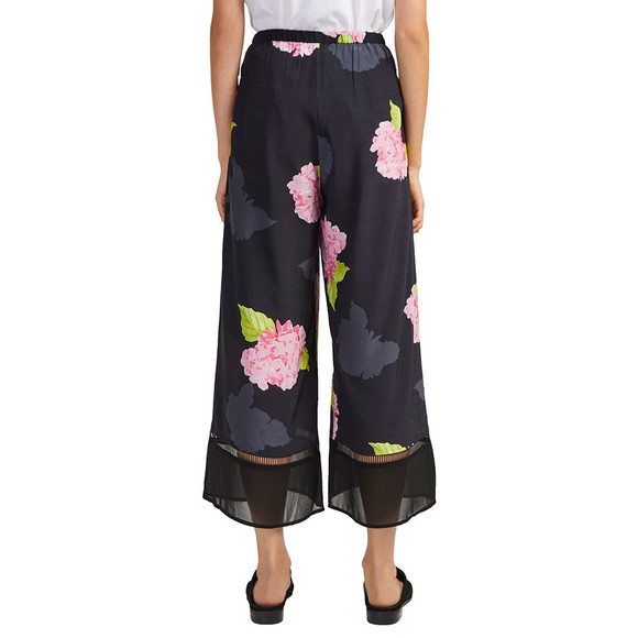 French Connection Womens Black Eleonore Drape Culottes main image