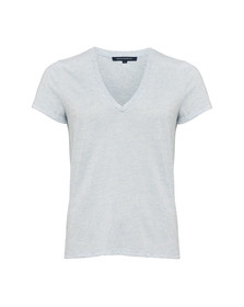 French Connection Womens Blue Hetty V Neck Jersey Top