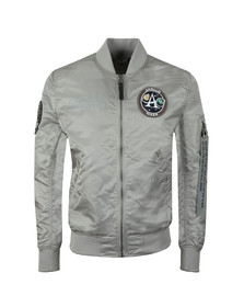 Alpha Industries Mens Silver Moon Landing Reversible Bomber