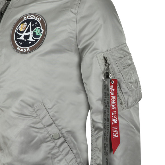 Alpha Industries Mens Silver Moon Landing Reversible Bomber main image