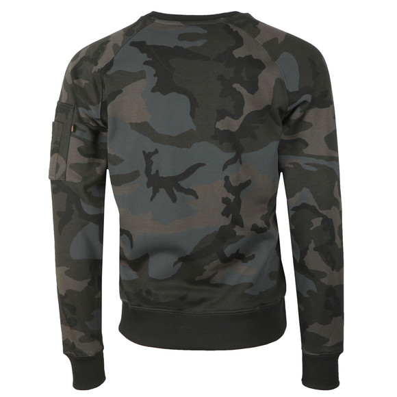Alpha Industries Mens Black X Fit Sweatshirt main image