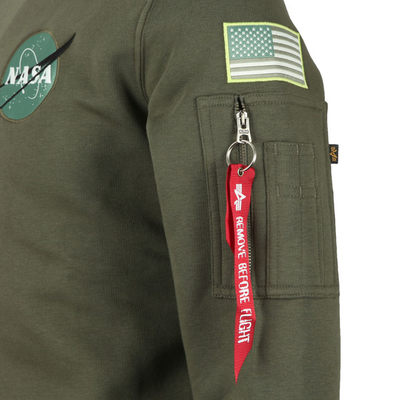Alpha Industries Mens Green Space Shuttle Sweat main image