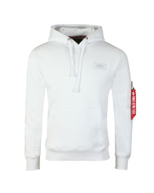 Alpha Industries Mens White Back Print Hoody