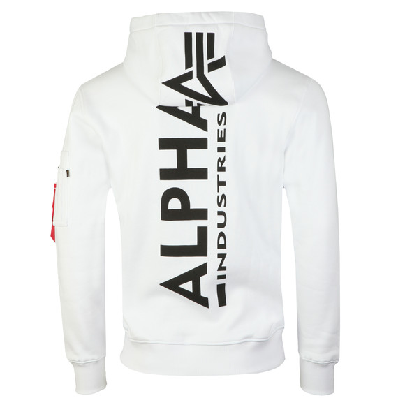 Alpha Industries Mens White Back Print Hoody main image
