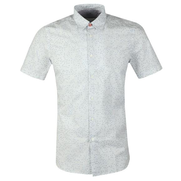 PS Paul Smith Mens White S/S Print Shirt