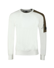 C.P. Company Mens Off-White Shoulder Detail Sweatshirt