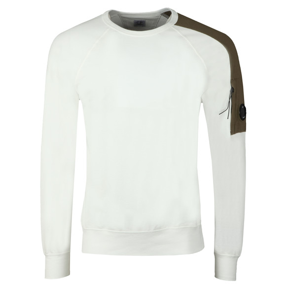 C.P. Company Mens Off-White Shoulder Detail Sweatshirt main image