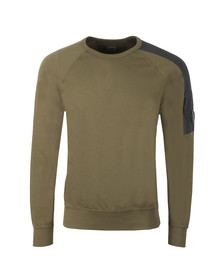 C.P. Company Mens Green Shoulder Detail Sweatshirt