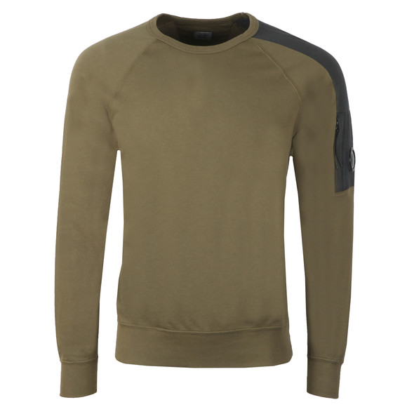 C.P. Company Mens Green Shoulder Detail Sweatshirt main image