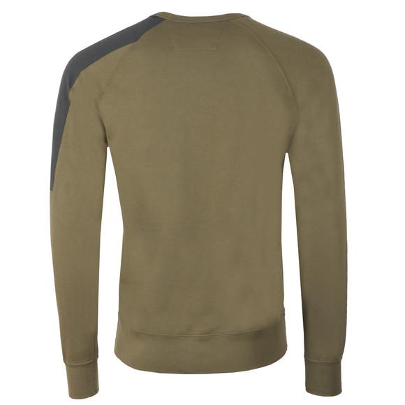 C.P. Company Mens Green Shoulder Detail Sweatshirt main image