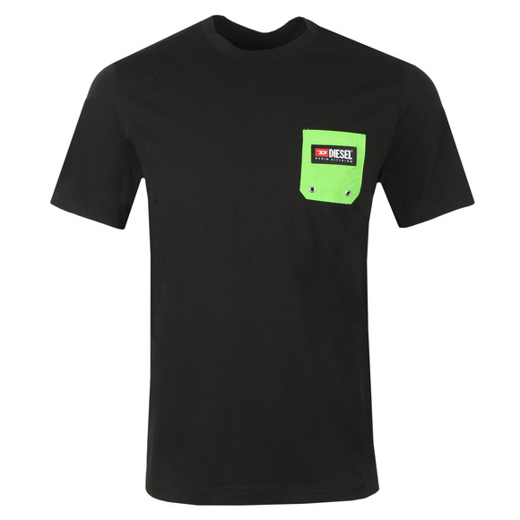 Diesel Mens Black Pocket T-Shirt main image