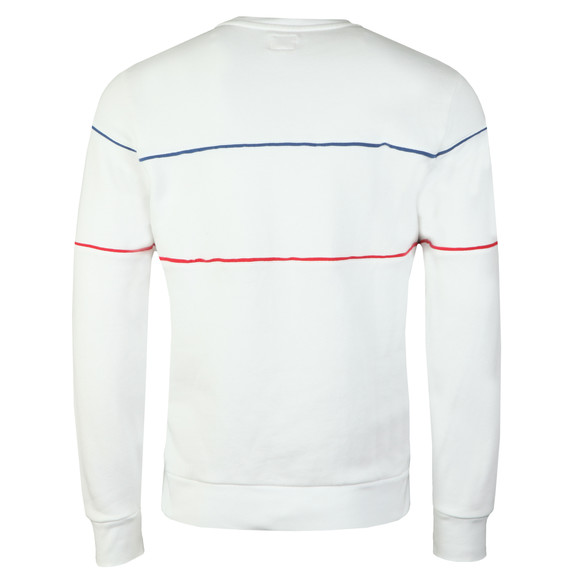 Levi's Mens White Reflective Crew Logo Sweatshirt main image