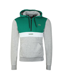 Lacoste Sport Mens Green Over The Head Hoody