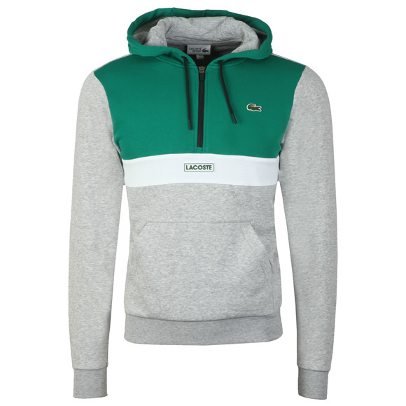 Lacoste Sport Mens Green Over The Head Hoody main image