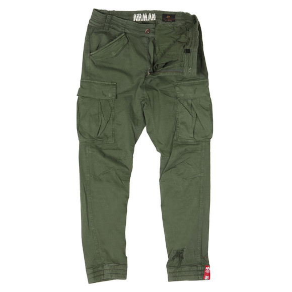 Alpha Industries Mens Green Airman Vintage Cargo Trouser main image