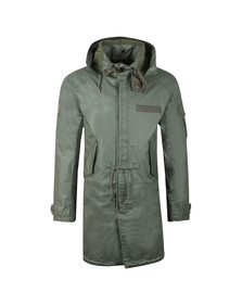 Pretty Green Mens Green Detachable Hooded Parka