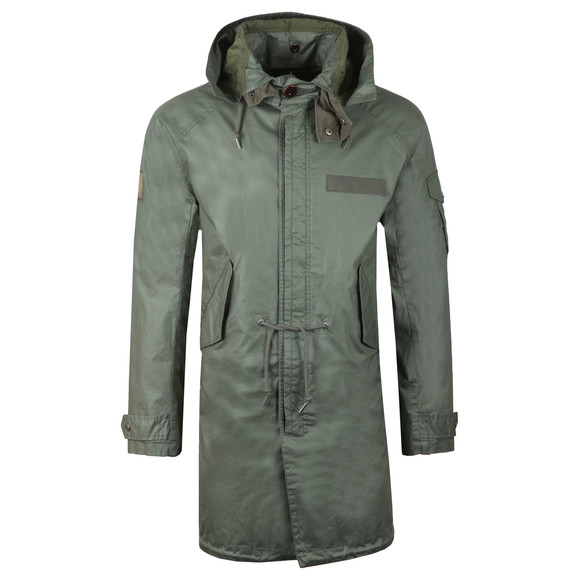Pretty Green Mens Green Detachable Hooded Parka main image