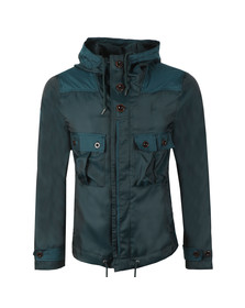 Pretty Green Mens Green Iridescent Hooded Jacket