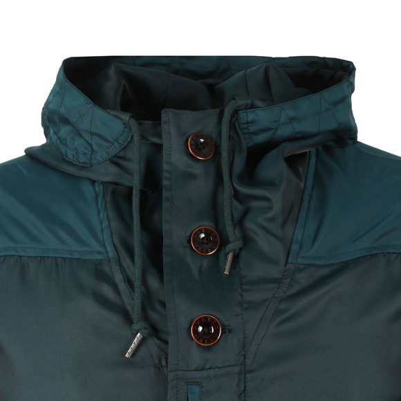 Pretty Green Mens Green Iridescent Hooded Jacket main image