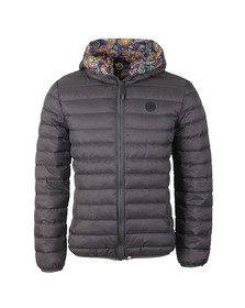 Pretty Green Mens Grey Lightweight Quilted Hooded Jacket
