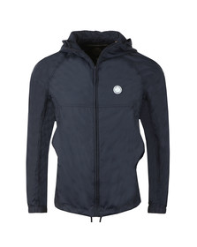 Pretty Green Mens Blue Lightweight Hooded Jacket