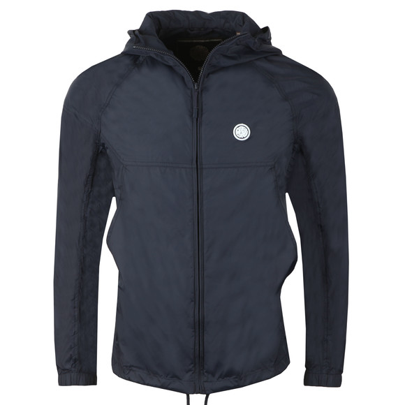 Pretty Green Mens Blue Lightweight Hooded Jacket main image