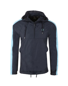 Pretty Green Mens Blue Overhead Hooded Jacket