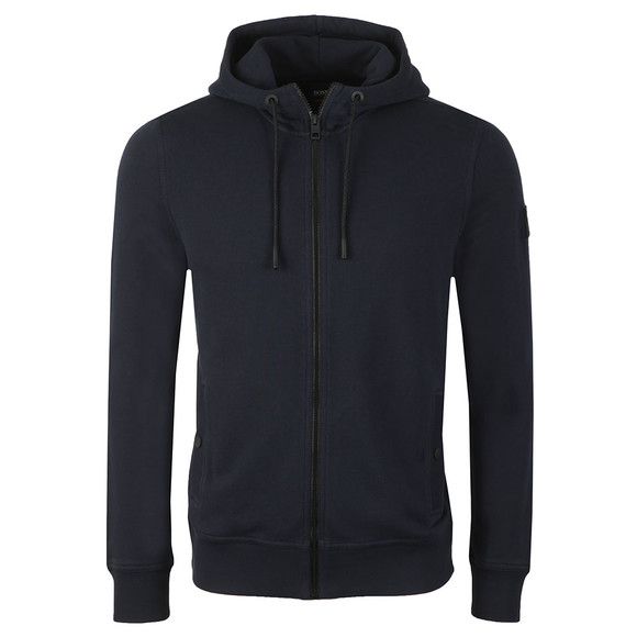 BOSS Mens Blue Casual Zounds Hoody