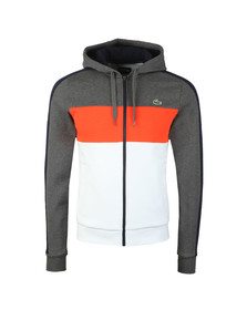 Lacoste Sport Mens Grey Full Zip Hooded Sweat