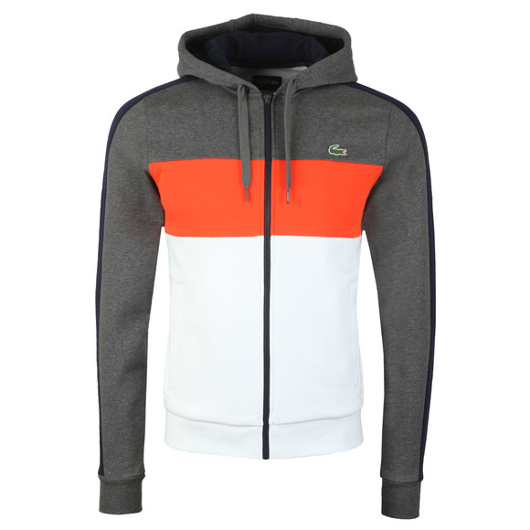 Lacoste Sport Mens Grey Full Zip Hooded Sweat main image